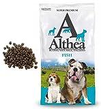 Althea Fish 15 kg - Crocchette monoproteiche al pesce per cani adulti di taglia media e grande, naturali al 100%