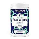 Petpost | Salviette per Zampe per Cani - Detergente Nutriente e Rivitalizzante per Zampe di Cani con Olio di Cocco, Olio di Jojoba e Aloe - 70 Tamponi di Cotone Ultra Morbido (Fiori di Ciliegio)