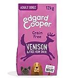 Edgard & Cooper Cibo Secco per Cani Adulti Crocchette con Carne Fresca di Cervo e Anatra Senza Cereali 12kg in Confezione Biodegradabile, Alimentazione Naturale per Cani di Taglia Grande
