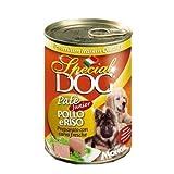 24 Lattine Special Dog Monge 400g Patè Gusti Vari con 1kg di Nutri Riso Sottovuoto Omaggio (Junior Pollo e Riso)