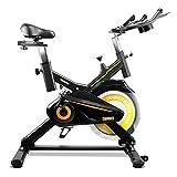 gridinlux. Trainer Alpine 7000 Bicicletta Spinning Pro Indoor, Volano di inerzia 15 kg, Livello Avanzato, Sistema di Assorbimento degli Impatti, Display LCD, Fitness