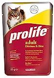 Prolife Monoproteico per Gatto da 85g, Pollo e Riso