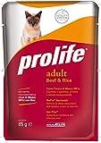 Prolife Monoproteico per Gatto da 85g, Manzo e Riso