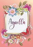 Agnella: Taccuino A5   Nome personalizzato Agnella   Regalo di compleanno per moglie, mamma, sorella, figlia   Design: farfalla   120 pagine a righe, piccolo formato A5 (14.8 x 21 cm)