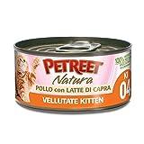 Petreet - Natura Le Vellutate Kitten con Pollo e Latte di Capra 60 gr.