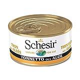 Schesir, Cibo Umido per Gatti Adulti al Gusto Tonnetto con Aloe, in Morbida Gelatina - Totale 2 Kg (24 Lattine Monodose da 85G)