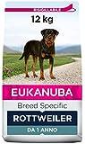 Eukanuba Breed Specific Alimento Secco per Rottweiler Adulti, Cibo per Cani Adattato in Modo Ottimale alla Razza 12 kg