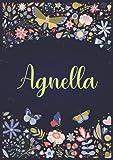 Agnella: Taccuino A5   Nome personalizzato Agnella   Regalo di compleanno per moglie, mamma, sorella, figlia ...   Design: giardino   120 pagine a righe, piccolo formato A5 (14.8 x 21 cm)