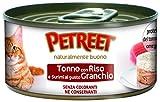 PETREET Tradizionale Tonno Riso Granchio - Confez. da 48 Pezzi x 85 gr