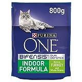Purina One Indoor Dry Cat Food Turchia 800 g, confezione da 4