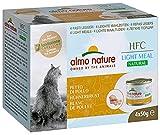 Almo Nature Made in Italy per Gatto - Mega Pack HFC Natural Light Meal con Petto di Pollo, 4 x 50 g