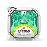 almo nature Daily Dog Food, 300g, Pollo e Piselli, Confezione da 9