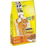 Friskies crocchette pollo e verdure - Cibo per gatti adulti, 4 kg, Pacco da 4