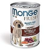 Monge Fresh Puppy Bocconi in Patè con Vitello e Ortaggi 400 gr 1 Lattina