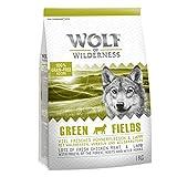 Wolf of Wilderness Adulto 'Green Fields' - Agnello Un Cibo Heathly ben equilibrato per il tuo cane