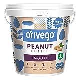 ORIVEGO Burro di Arachidi Cremoso, 1kg - 100% Arachidi, Vegano, Senza Zucchero e Additivi