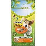 Purina Friskies Crocchette Cane Vitafit Mini Menu fino a 10 kg con Pollo e Verdure Aggiunte, 6 Sacchi da 1.5 kg Ciascuno