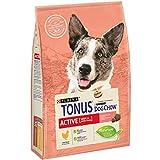 Purina Tonus Dog Chow Active Cane Crocchette con Pollo, 4 Sacchi da 2.5 kg