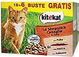 Kitekat La Simpatica Canaglia bocconcini per Gatti Multipack di 24 bustine da 100 g