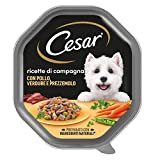 Cesar Ricette di Campagna Cibo per Cane con Pollo, Verdure e Prezzemolo, 150 g, 14 Vaschette