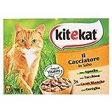Kitekat Il Cacciatore in Salsa Cibo Umido per Gatti, 12 x 100g
