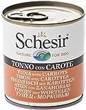 Schesir Dog cibo per cani bagnato con pollo/tonno e verdura in diverse varietà, ingredienti naturali, 8 x 285 gr