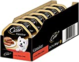 Cesar - Cibo Umido per Cani, Classico con Manzo e fegato, Pacco da 7 (7 x 2 Ciotole x 150 g)