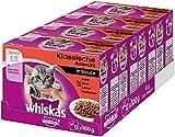 Whiskas - Confezione Multipla di Cibo per Gatti Giovani, 48 porzioni (4 x 12 x 100 g)