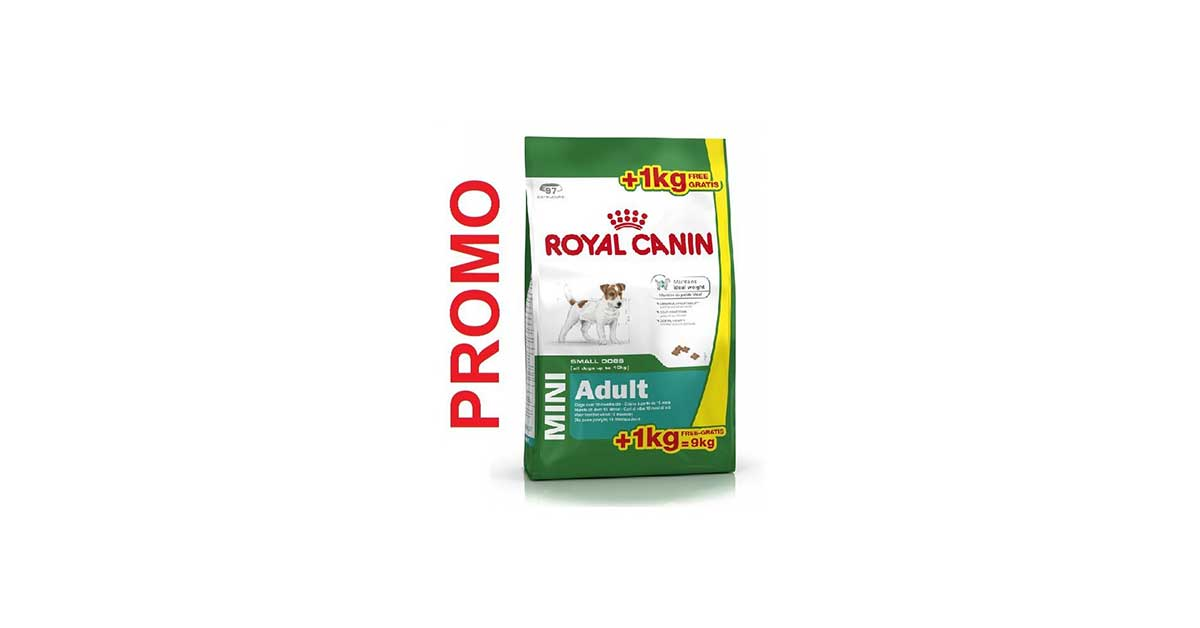 royal canin cani mangime Mini Adult, 8 + 1 kg gratis, 1er Pack (1 X 9 kg)